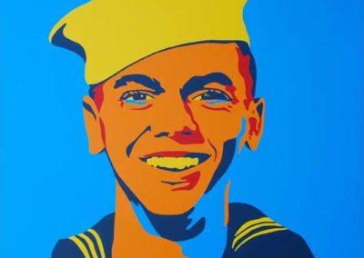 Chuck Ellison, Dads Enlistment March 23, 1954 36x36 NFS