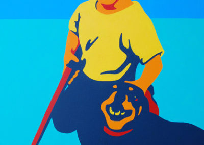 Stevie And Tiger @1970 24x30 NFS