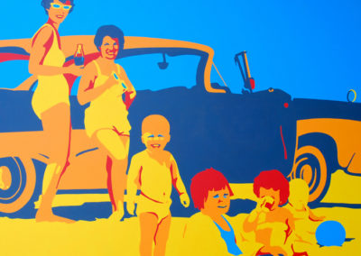 With The Jones' on cocoa beach @1963 36x48 NFS