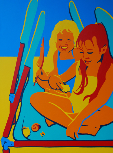 Ashley And Tayler With Cocoa Beach Treasures 30x40 NFS